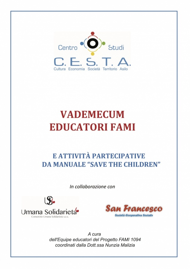 "Vademecum Educatori FAMI - e attività partecipative da manuale ""Save the children"""
